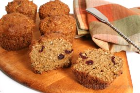 Oat Bran Apple Muffins