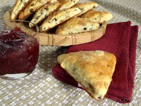 Currant and Raisin Scones
