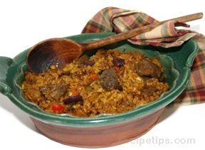 Mediterranean Lamb and Rice Casserole