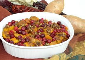 Yams and Cranberry Bake