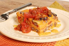 Tortilla Cheese and Bean Dish - Gluten Free