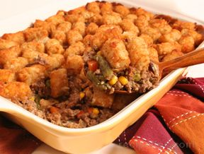 Tater Tot Casserole with Mixed Vegetables