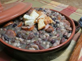 Bean Soup with Ham and Kielbasa