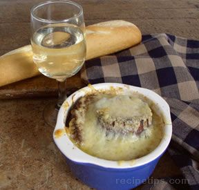French Onion and White Wine Soup