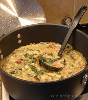 ribollita bean soup - tuscan vegetable and bread soup Recipe