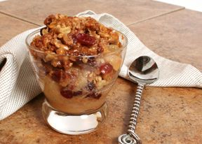 Apple Caramel Cranberry Crisp