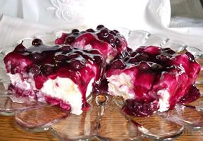 Blueberry Angel Food Cheesecake