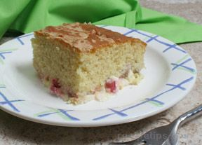 Rhubarb Custard Yellow Cake Recipe
