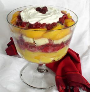 Raspberry and Peach Trifle Recipe
