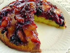 Upside Down Cake with Mixed Fruit
