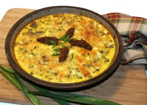 Green Garlic Quiche with Morels