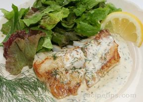 Fish Fillets in Creamy Dill Sauce