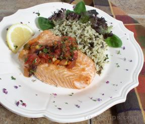 Salmon with Tomato Salsa