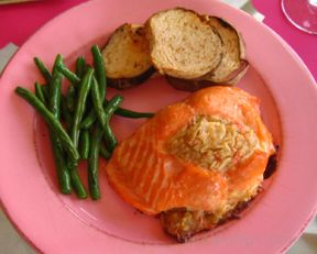 Salmon with Seafood Stuffing