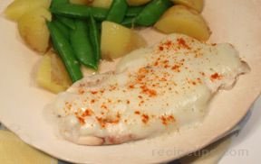 Tilapia with Blue Cheese Sauce