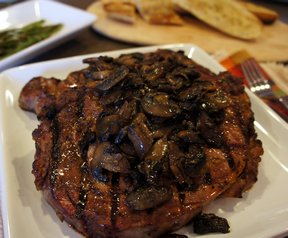 grilled rib eye with mushrooms in sherry sauce&nbsp;Recipe