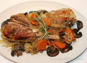 Slow Cooker Turkey Legs with Vegetables