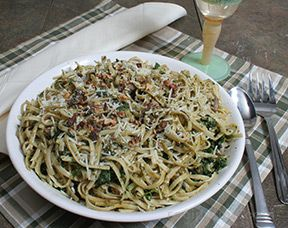 Pasta with Walnut and Pecan Pesto