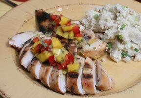 Lime Grilled Chicken with Mango Salsa