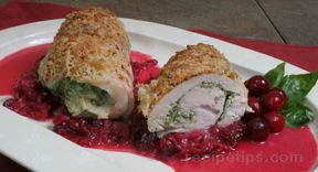 Spinach Stuffed Turkey Tenderloin