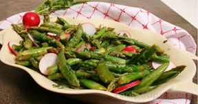Asparagus Snap Pea and Radish Salad