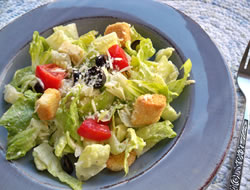 caesar salad with homemade dressing Recipe
