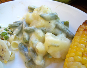 creamed green beans and potatoes Recipe