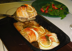 Tilapia with Seafood Stuffing