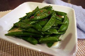 glazed snap peas Recipe