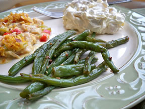green beans sauteed with garlic Recipe