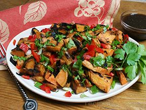 Grilled Sweet Potato Salad with Balsamic Vinegarette