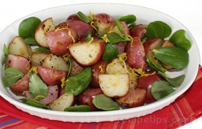 Red Potatoes with Purslane