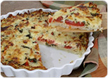 Tomato Hashbrown Quiche