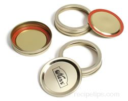 Canning Jar Bands and Lids Glossary Term