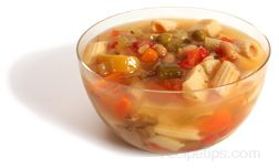 chicken vegetable soup - california style Glossary Term