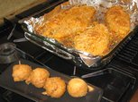 Oven Baked Catfish and Hush Puppies