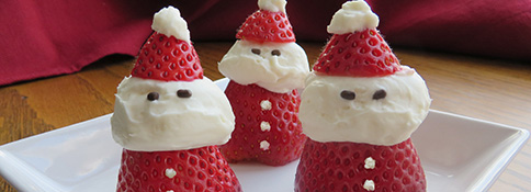 Strawberry & Cream Santas