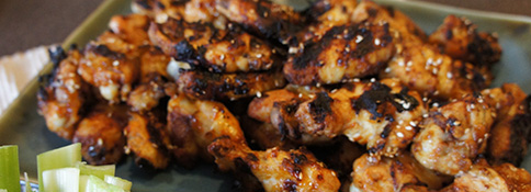 Grilled Sesame Chicken Wings