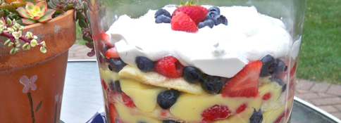 Red, White & Blue Trifle