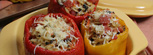 Orzo, Vegetable Stuffed Peppers Recipe