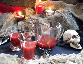 halloween party ideas - drink a cup of fake blood! Recipe