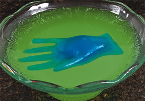Eerie Floating Hand Edible Halloween Decorations Recipe