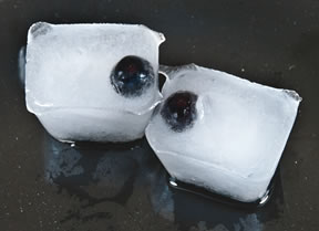 halloween ideas - eyeball ice cubes Recipe