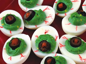 edible halloween crafts - zombie eyes Recipe