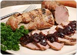 Grilled Pork Loin with Cherry Sauce Recipe