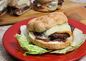Grilled Turkey Burgers with Onion Relish