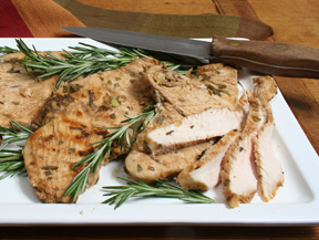 Grilled Turkey Tenderloins with Rosemary