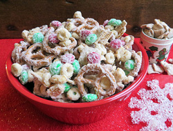 Chex Mix Christmas.Almond Bark Christmas Mix Recipe