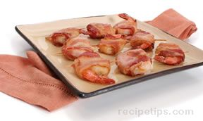 bacon wrapped shrimp and water chestnuts Recipe