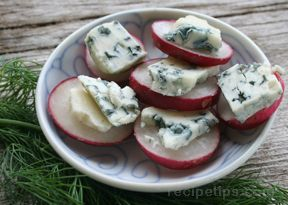 Blue Cheese and Radish Tidbits Recipe